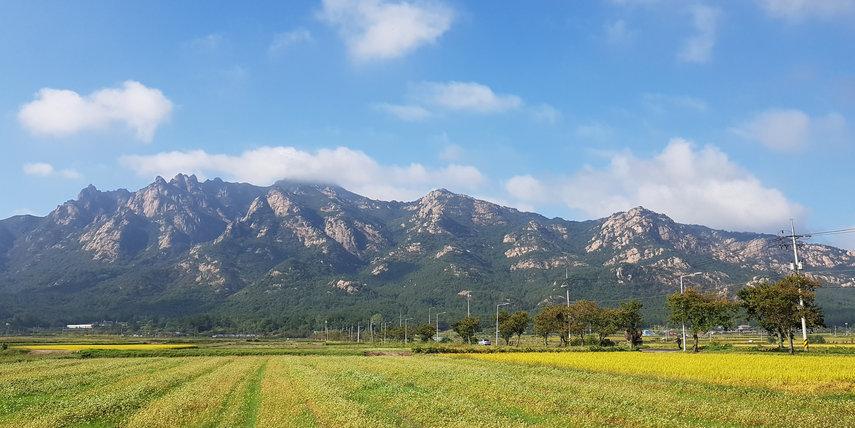 "Tagy travel Korea-Mt.Wolchulsan National Park Hiking, Wolchulsan means ""mountain where the moon rises."""