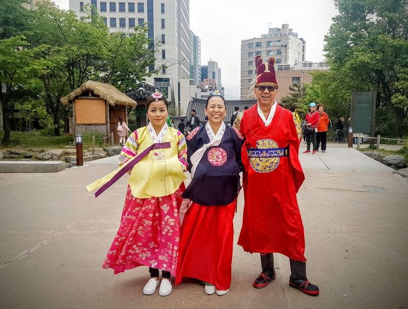 South Korea Tour - wearing hanbok experience