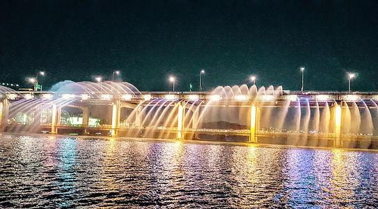 Korea private tour-  Banpo Bridge Rainbow Fountain