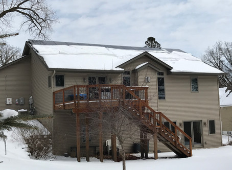 Should you clean or remove snow from your panels?