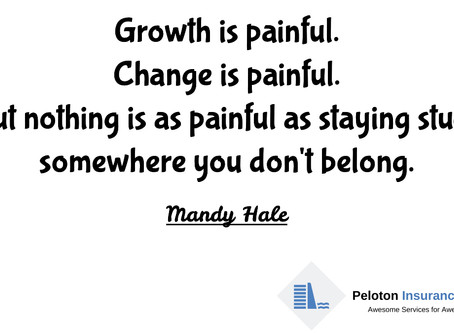 Don't be frightened by the Pain brought on by Growth