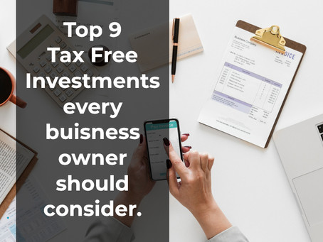 Top 9 Tax Free Investments, from Anderson Advisors