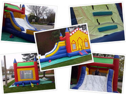LARGE BOUNCY CASTLE WITH SLIDE