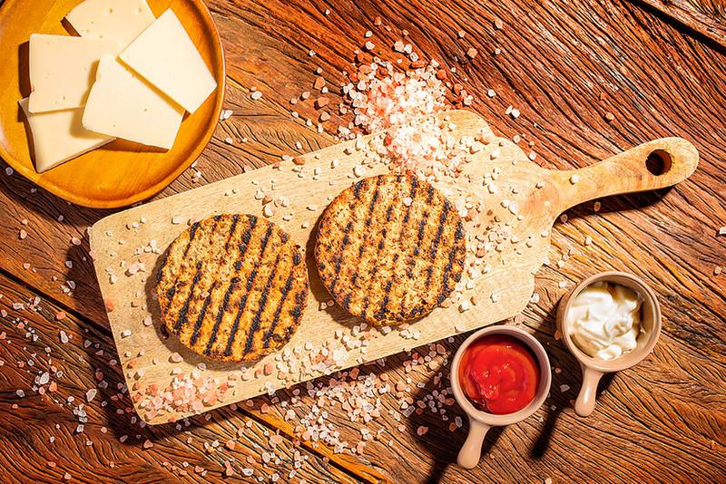 Produção Goumet - Hambúrguer Vegano