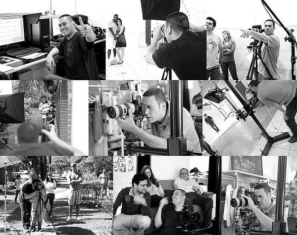 paulo uemura fotografo trabalhando em várias produções fotográfias.