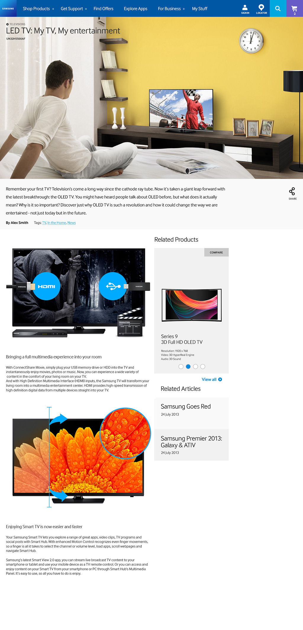 WEB/ 삼성전자 글로벌 사이트