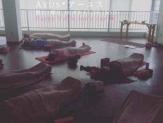 ひたちなか市 Ayus*アーユス *Sunday Yoga* 開催しました。