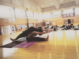 中学校 親子Yoga