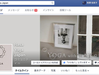 *Rasa Yoga Japan* Facebookページ