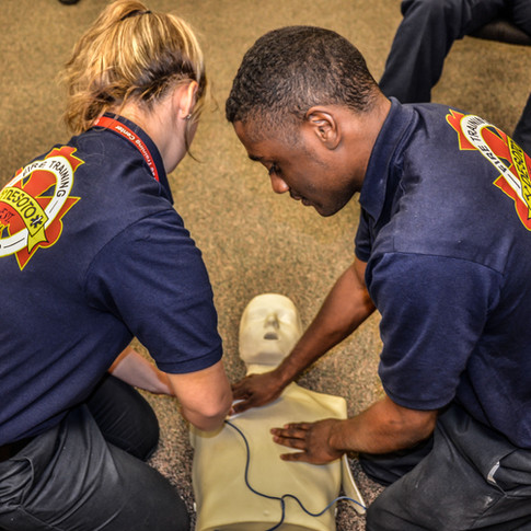 AED training at the Training Center
