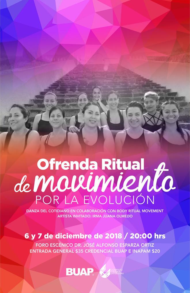 Danza del cotidiano se presentará en el foro escénico del CCU BUAP