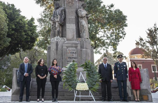 Ayuntamiento de Puebla conmemora el 488 Aniversario de la Fundación de Puebla