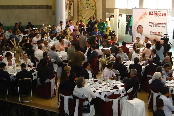 Gobierno de diálogo con todos los segmentos de la población, ofrece Miguel Barbosa