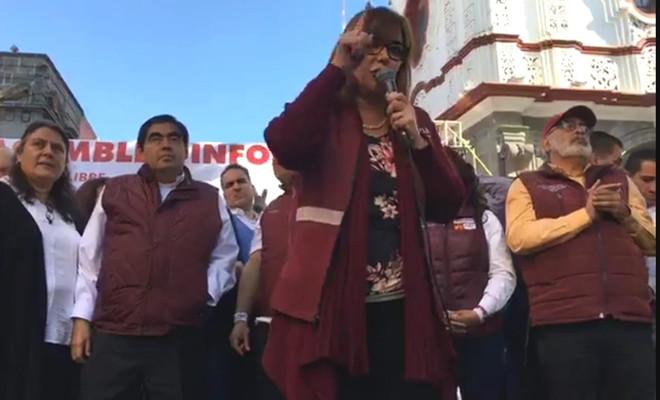 La advertencia que dejó Yeidckol Polevnsky a la Alcalde de Puebla y el nacimiento de un caudillo