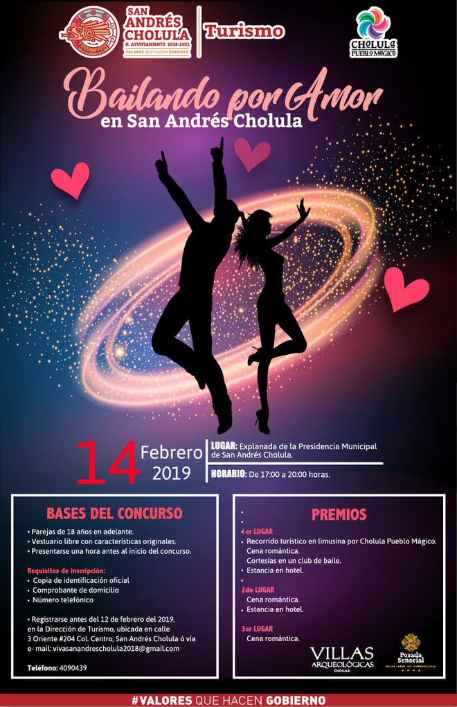 Ayuntamiento de San Andrés Cholulalanza la convocatoria bailando por amor