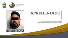 """FGE Puebla aprehende a Felipe N. alias """"El Pirulí"""" presuntamente relacionado con varios hechos"""