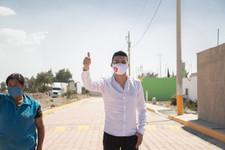 JAMF Alcalde de Quecholac entrega avenida en Compañía de Jesús para beneficio de la gente.