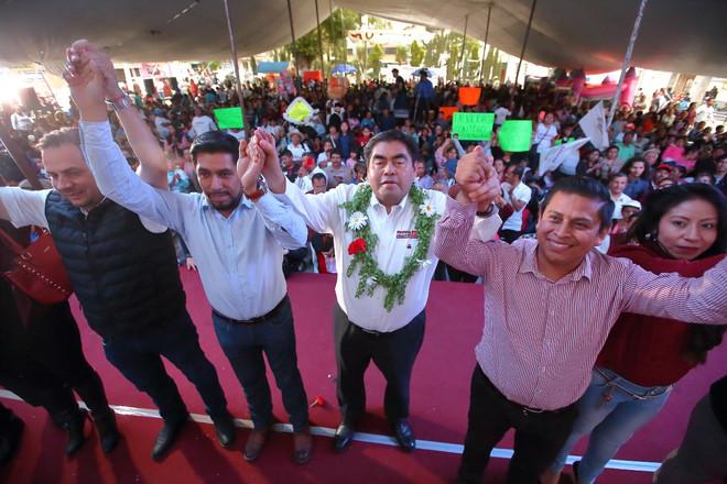En Puebla la deuda social está pendiente en las juntas auxiliares y en las colonias populares: Migue