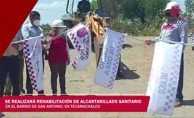 Edil de Tecamachalco rehabilita alcantarillado en San Antonio en beneficio de 18 mil  habitantes.