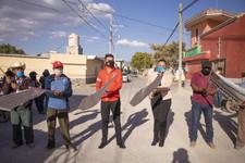 Martinez Fuentes pone en marcha obra de adoquinamiento en Manjarrez, Quecholac.