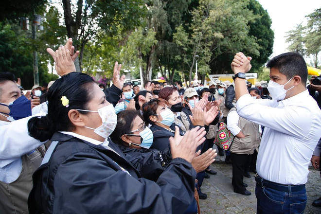 EDUARDO RIVERA PÉREZ INICIA PROGRAMA PARA MANTENIMIENTO DE CAMELLONES Y PARQUES