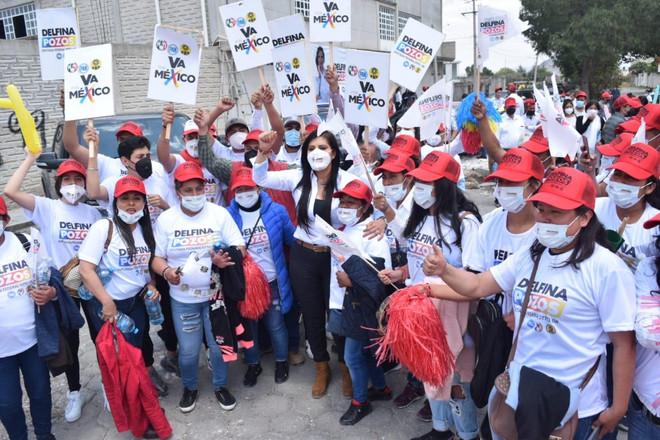 Delfina Pozos recibe el respaldo de estructuras priistas en el municipio de Guadalupe Victoria