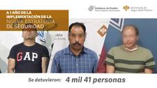 En un año, Policía Estatal captura a 4 mil presuntos delincuentes 28 Febrero 2021