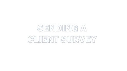 Sending a survey