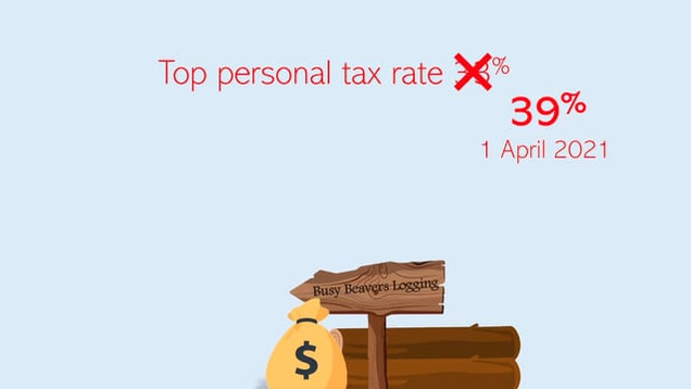 Changing top personal tax rate