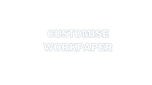 Customise a workpaper