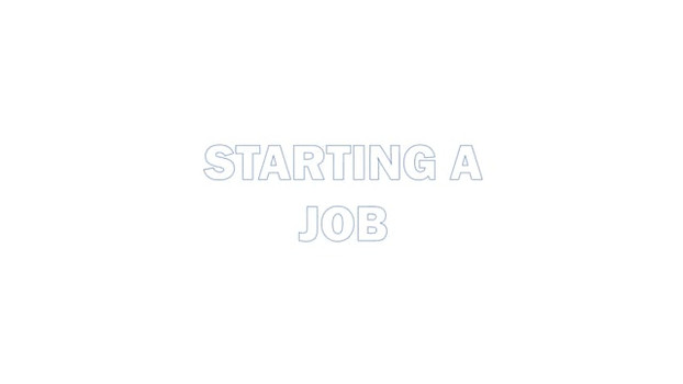 Starting a job