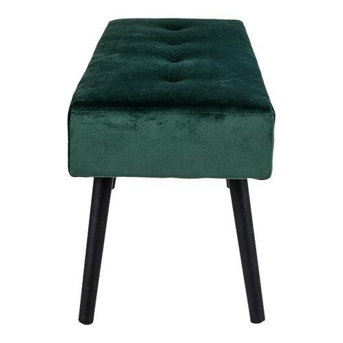Bænk/ Bench, velour/ velvet, grøn/ green