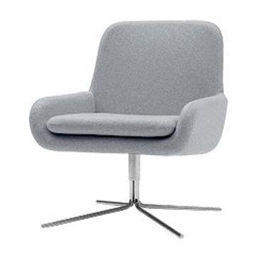 Coco dreje lænestol, lysegrå / Coco swivel armchair, light grey
