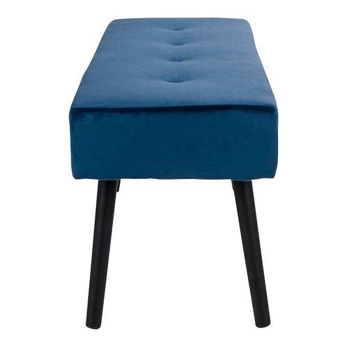Bænk/ Bench, velour/ velvet, blå/ blue