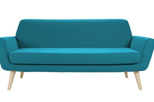 Scope sofa, turkis, ask ben / Scope couch, turquoise, ash legs