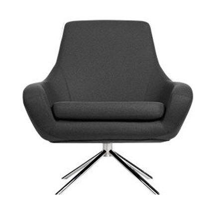 Noomi lænestol, sortgrå / Noomi armchair, black grey