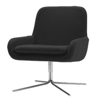 Coco lænestol m. drejefod, mørkegrå / Coco swivel armchair, dark grey