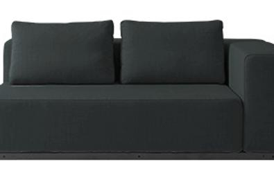 Softline Nevada sofa, sortgrøn / Softine Nevada couch, black green