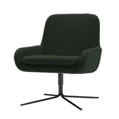 Coco dreje lænestol, mørkegrøn / Coco swivel armchair, dark green