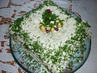 Закусочный торт «Под ёлочкой»