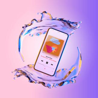Golden Goddess Album on Phone Mockup