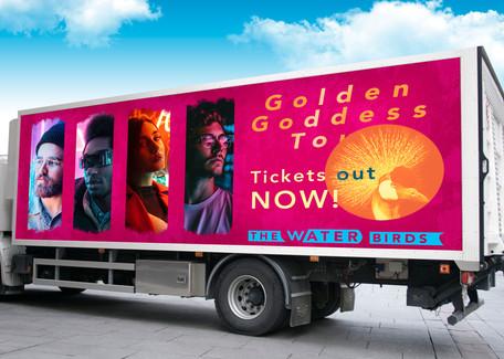 Golden Goddess Tour Truck Advertisement