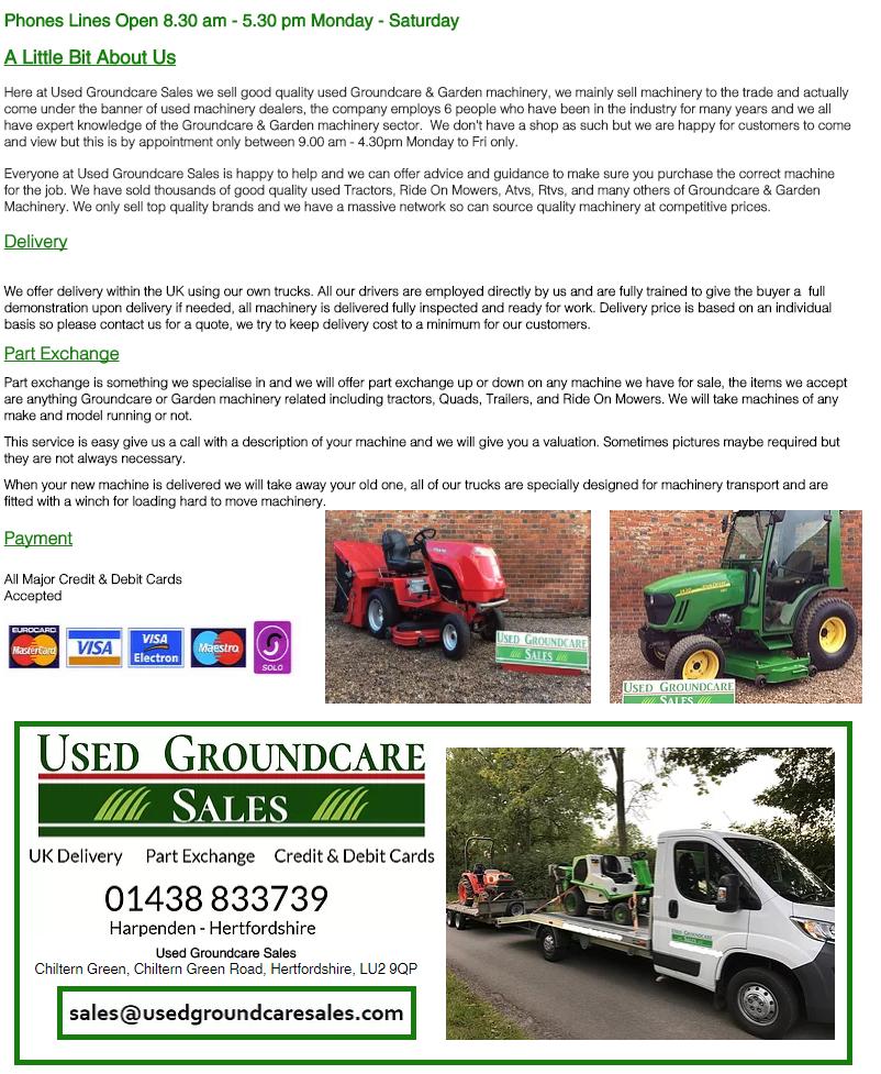 used groundcare harpenden, mower hertfordshire, pre owned harpenden, kubota hertfordshire