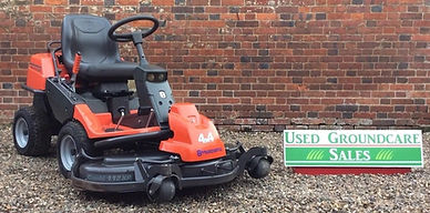 used husquvarna, sed ride on mower, seound hand mower, used groundcare sales, groundcare trader, kuboa, we sell used mahinery, usd groundcar sales, browns mower,