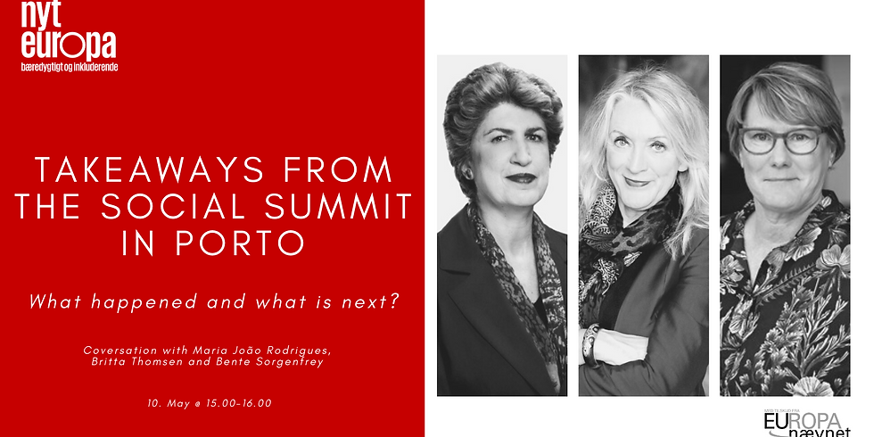 Takeaways from the Social Summit in Porto – What happened and what is next?