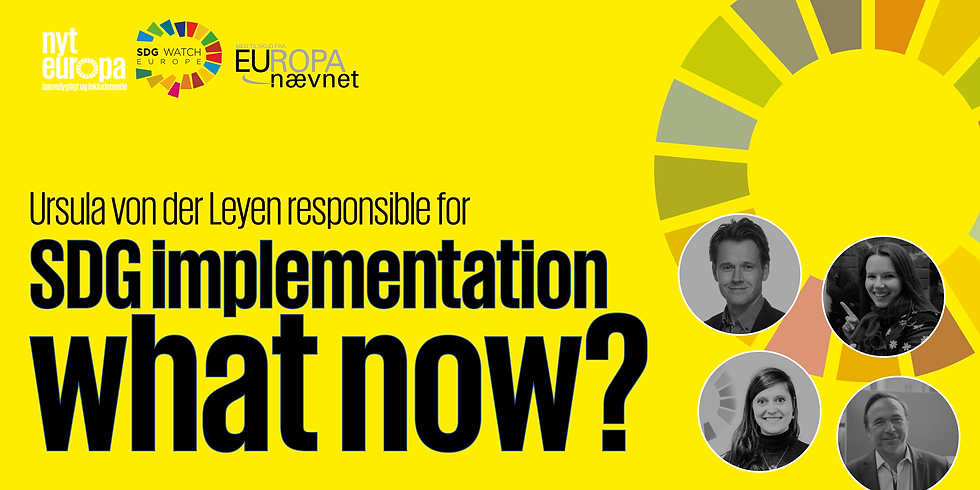 Commission President Ursula von der Leyen responsible for SDG implementation – what now?