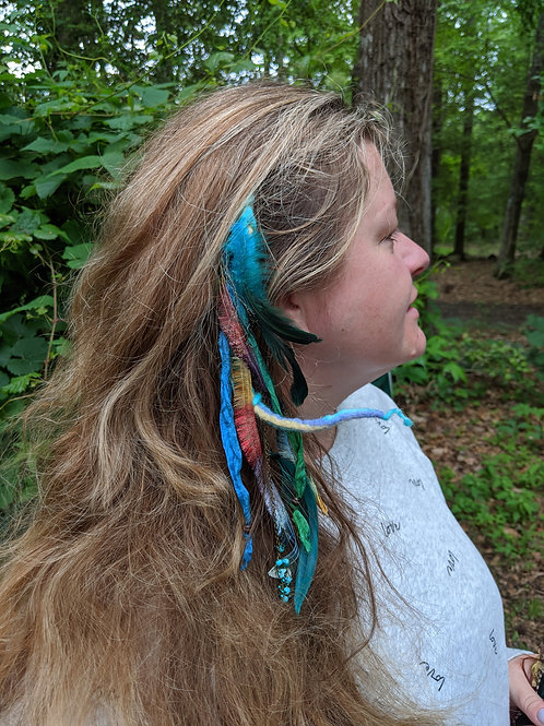 Boho clip in hair decoration