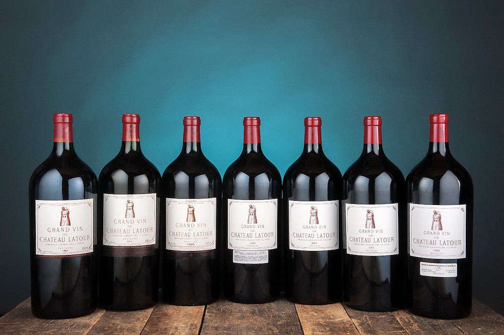 Credit: Hart Davis Hart Wine Co. - Chateau Latour Large Format bottles part of McClendon's wine collection sold by Hart Davis Hart