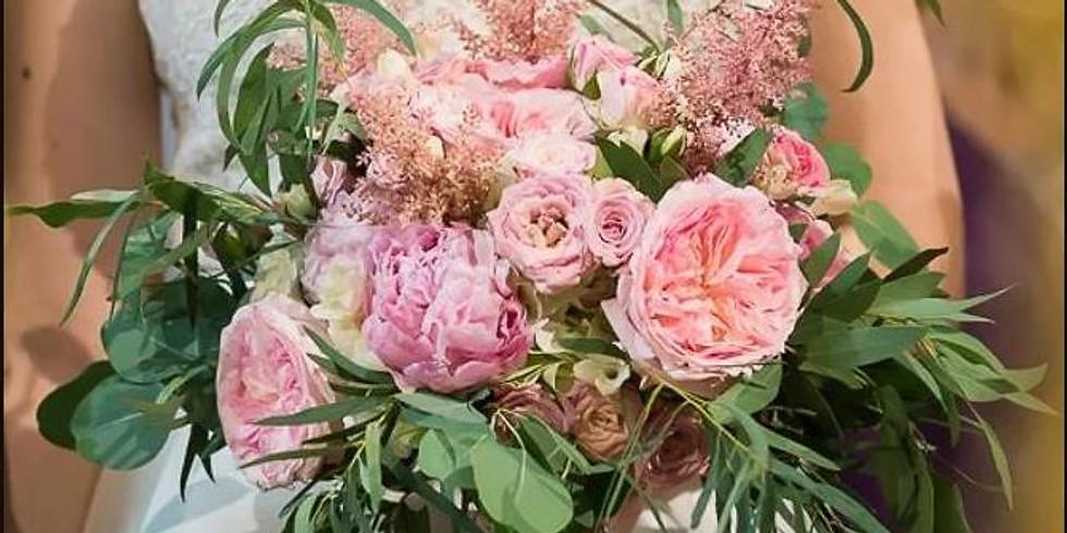 Cadou Buchetul de mireasa cu trandafiri David Austin