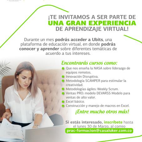 ¡Nuestra Universidad CasaLuker te invita a seguir aprendiendo virtualmente!